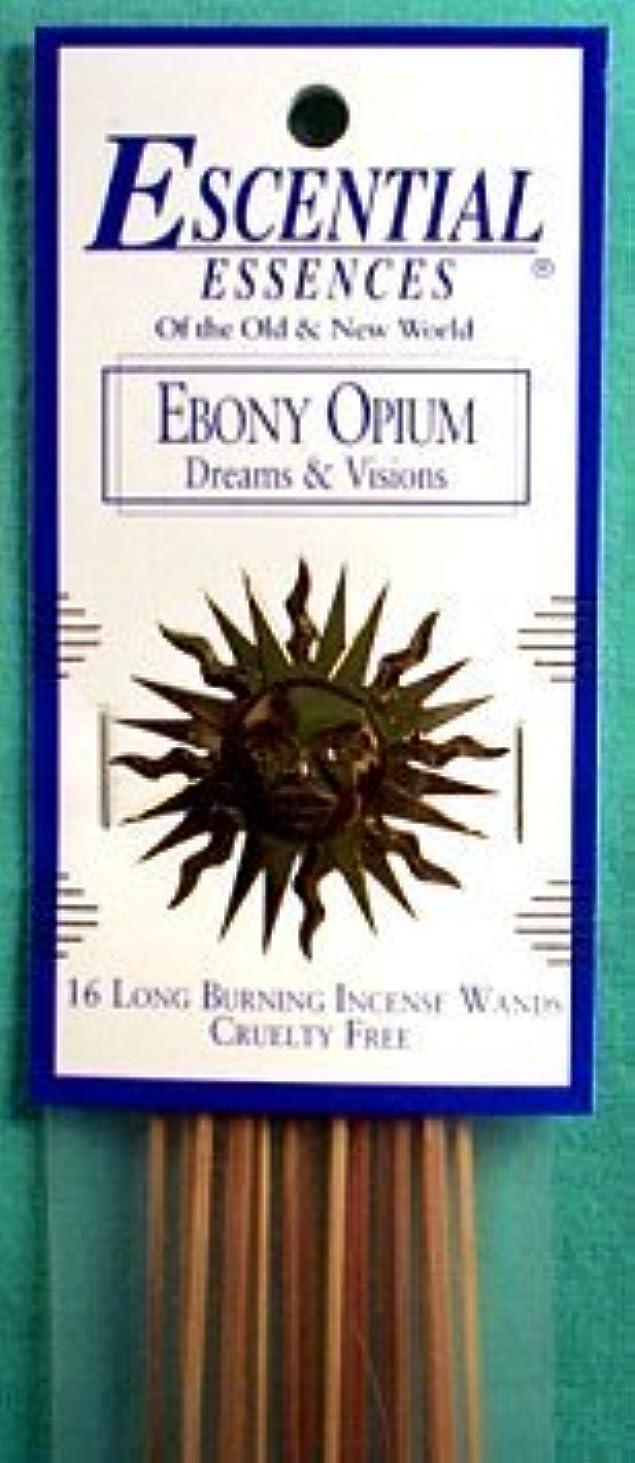 正午臭い鎮静剤エボニーOpium Escential Essences Incense Sticks