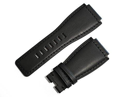 「ベル&ロス(Bell&Ross)向け」輸入王オリジナル BR01,BR03用 牛革 ベルト 社外品 ブラック 24mm