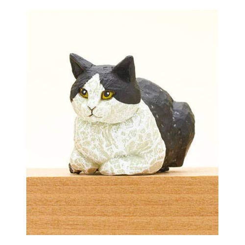はしもとみお 猫の彫刻 [5.ハチワレ](単品)