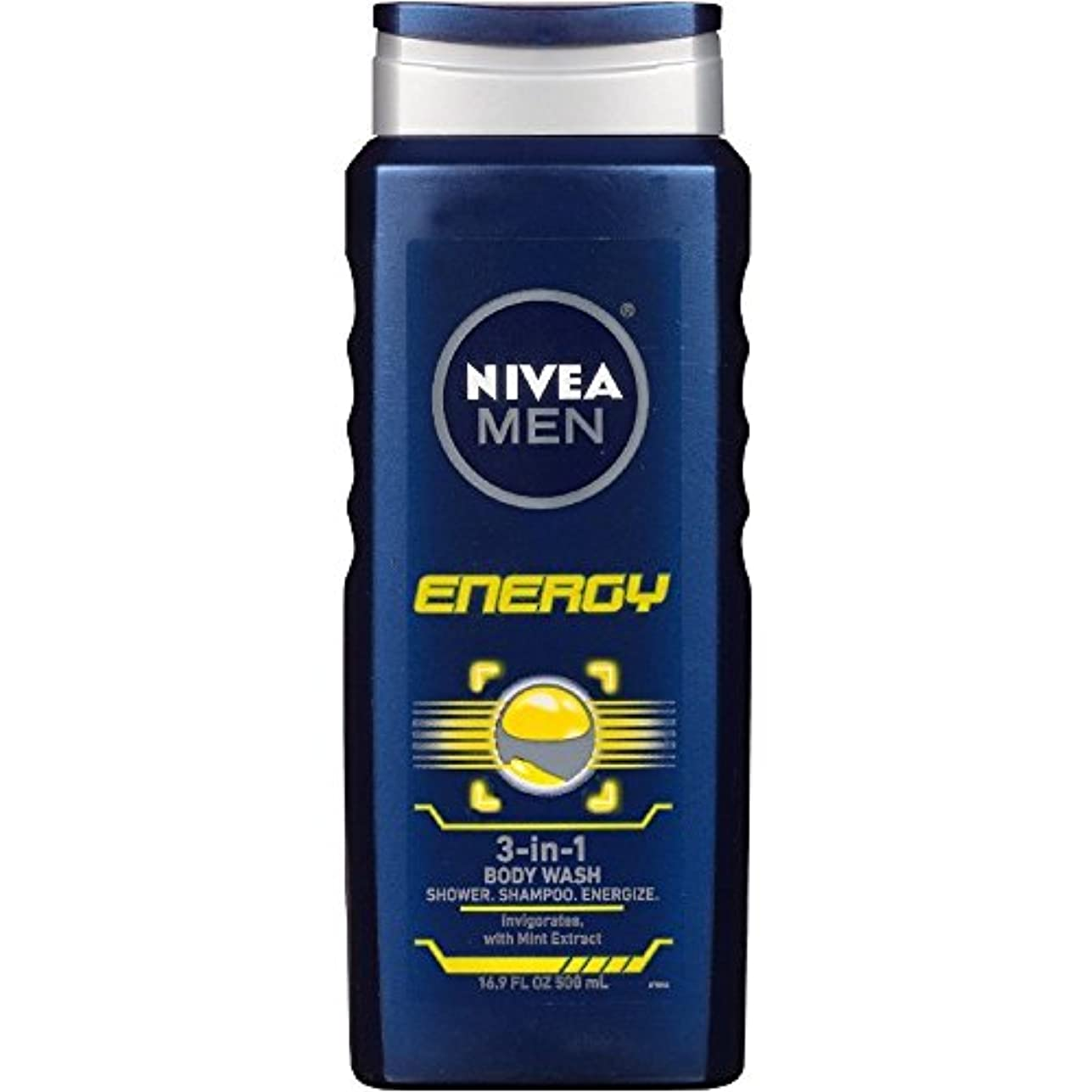 ファイル豆ドメインNIVEA MENS BODY WASH ENERGY 16.9 OZ by Nivea Men