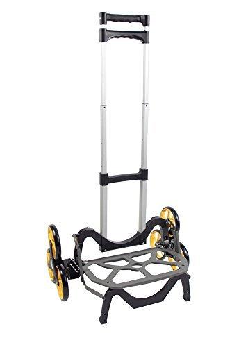 アップカート 3輪キャリーカート 段差・階段・カーブ・斜面・でこぼこ道にも対応 最大積載量45kg 高さ調整可 折り畳み可 アウトドア・レジャーにも便利