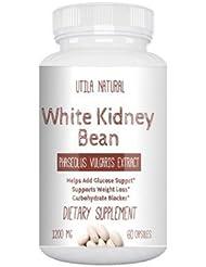 白いんげん豆サプリ ホワイトキドニービーン抽出液 600mg 60ベジタブルカプセル White Kidney Bean [並行輸入品]