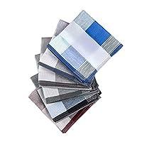 ハンカチ メンズ 綿100% 大判 先染め チェック柄 5枚セット とても便利です(5枚セット)