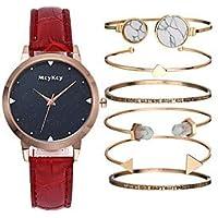 Women's Wrist Watch Quartz Black/White/Blue Chronograph Cute Luminous Analog Ladies Luxury Bangle - Purple Red Blue One Year Battery Life