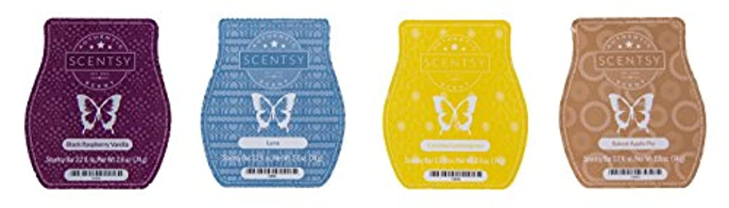 拷問フォーム同情的Scentsy Bar 4-Pack (Black Raspberry Vanilla, Baked Apple Pie, Luna, Coconut Lemongrass)