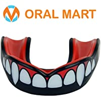 Oral Mart 2018 Custom Design Sports Mouth Guard (Fang/Vampire, Picasso, Invisible Ninja, Green Monster, Double) for Boxing, Sparring, Karate, BJJ, MMA, UFC (/w Vented Case)