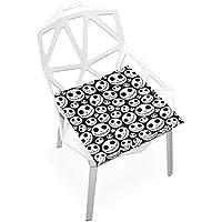座布団 低反発 ピエロ いっぱい ビロード 椅子用 オフィス 車 洗える 40x40 かわいい おしゃれ ファスナー ふわふわ fohoo 学校