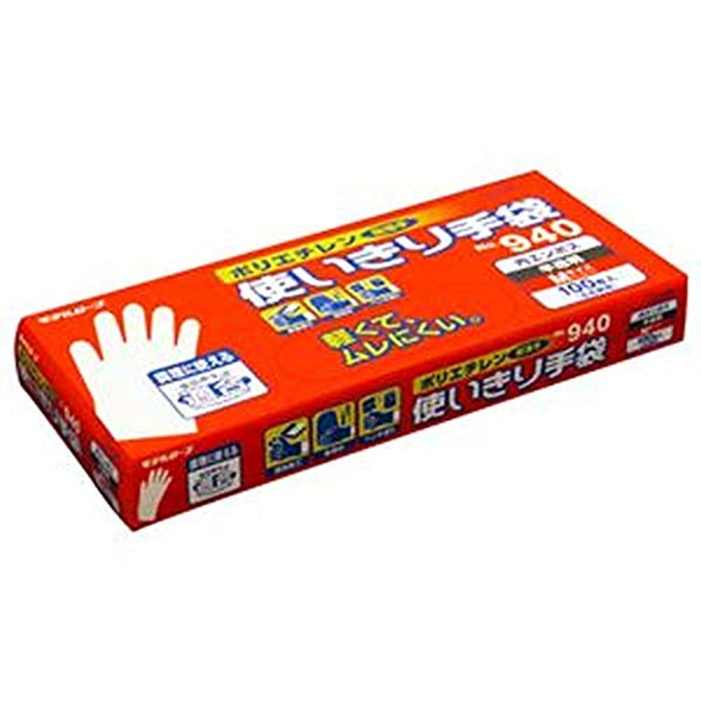 びんオフェンス解釈- まとめ - / エステー/No.940 / ポリエチレン使いきり手袋 - 内エンボス - / M / 1箱 - 100枚 - / - ×10セット -