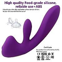 充電 G ポイント振動女性のマスターベーションマッサージ AV 振動ボールスティック、大人のセックス製品女性の楽しい大人のおもちゃ,Purple
