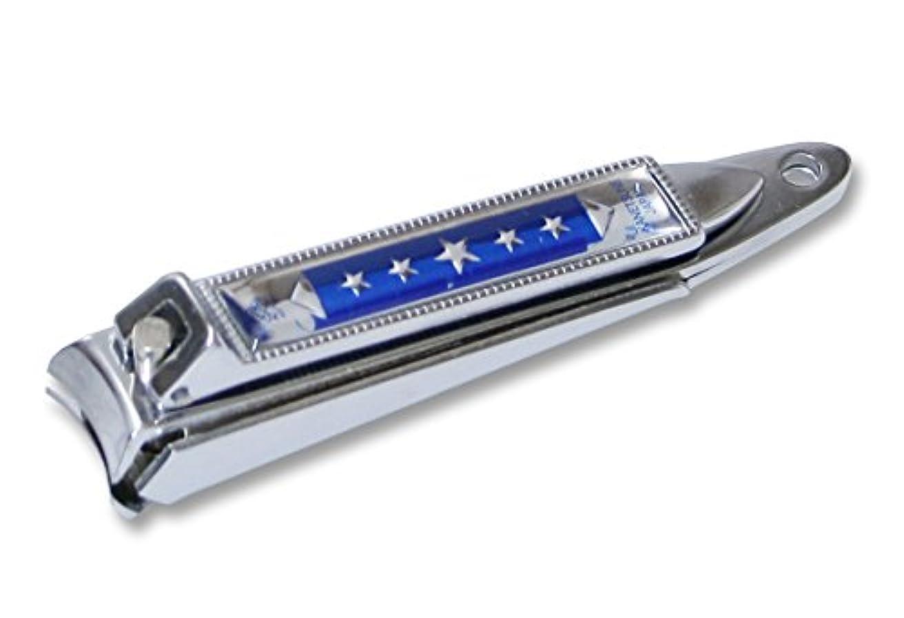 振り向く収まる登るKC-051BL 関の刃物 関兼常 チラーヌ爪切 中 青