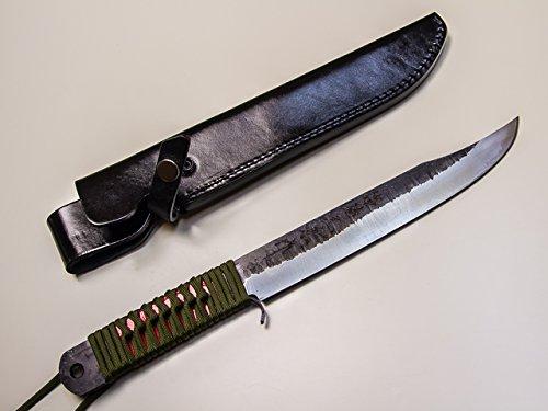 青紙 狩猟用ナタ 120mm 本革ケース
