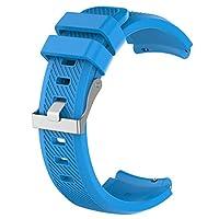 F Fityle 時計バンド 腕時計バンド 交換ベルト シリコン 22mm Amazfit 1/2に対応 全10色 - 青