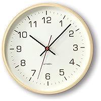 KATOMOKU plywood wall clock 4 スイープ(連続秒針) km-44N φ252mm