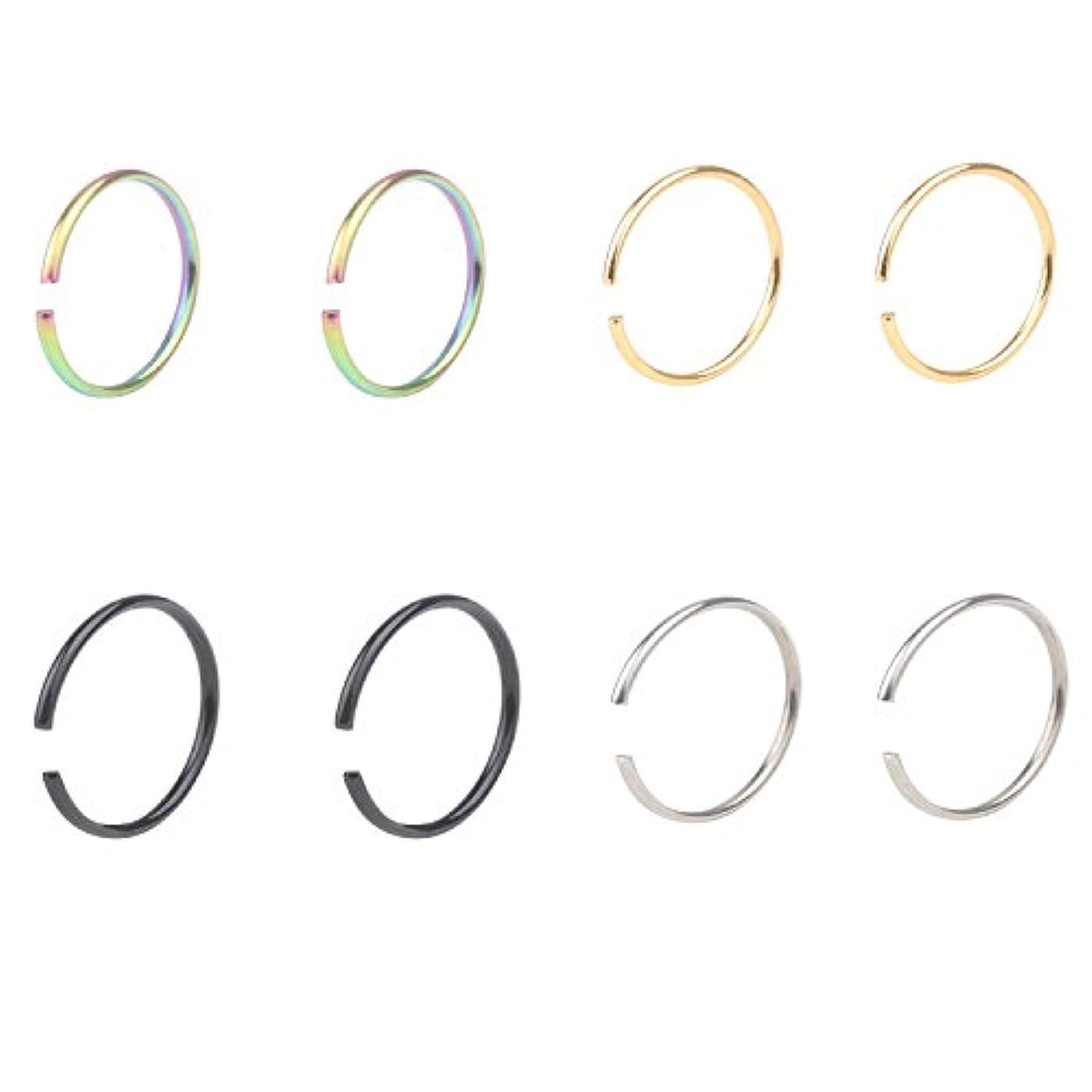 予知王室いろいろ22 gステンレススチールnon-piercing Fakeクリップon式イヤリングラウンドらせん軟骨トラガス鼻リップ耳フープ10 mm