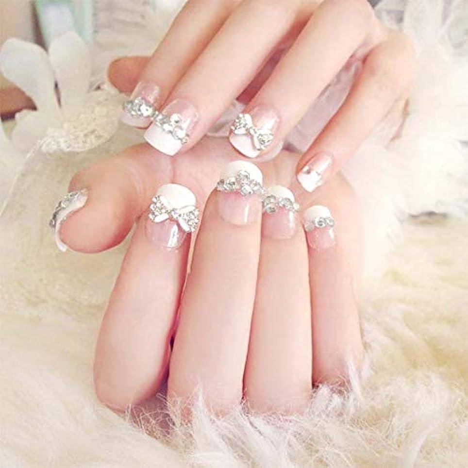 ヨーロッパデッドロックかなりXUTXZKA 24個/セット偽の爪の結婚式の花嫁フルネイルのヒントミドルロング偽ネイル