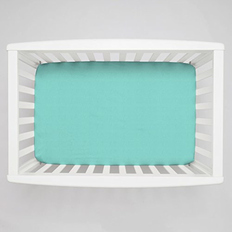 Carousel Designs Solid Teal Mini Crib Sheet 5-Inch-6-Inch Depth by Carousel Designs