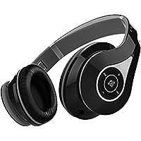 Mpow 密閉型 Bluetooth ヘッドホン 高音質 折りたたみ式 ケーブル着脱式/バランス接続対応 リモコン・マイク付き/ハンズフリー通話可能 グレー MPBH059AH