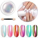 Niome 1 Box 0.3g Nail Art Powder Dust Trend Rainbow Effect Glitter Pigment Manicure Decoration DIY Tool