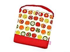 わくわくKidsざぶとん(キルティングタイプ) おしゃれリンゴのひみつ(アイボリー) 日本製 N3862300