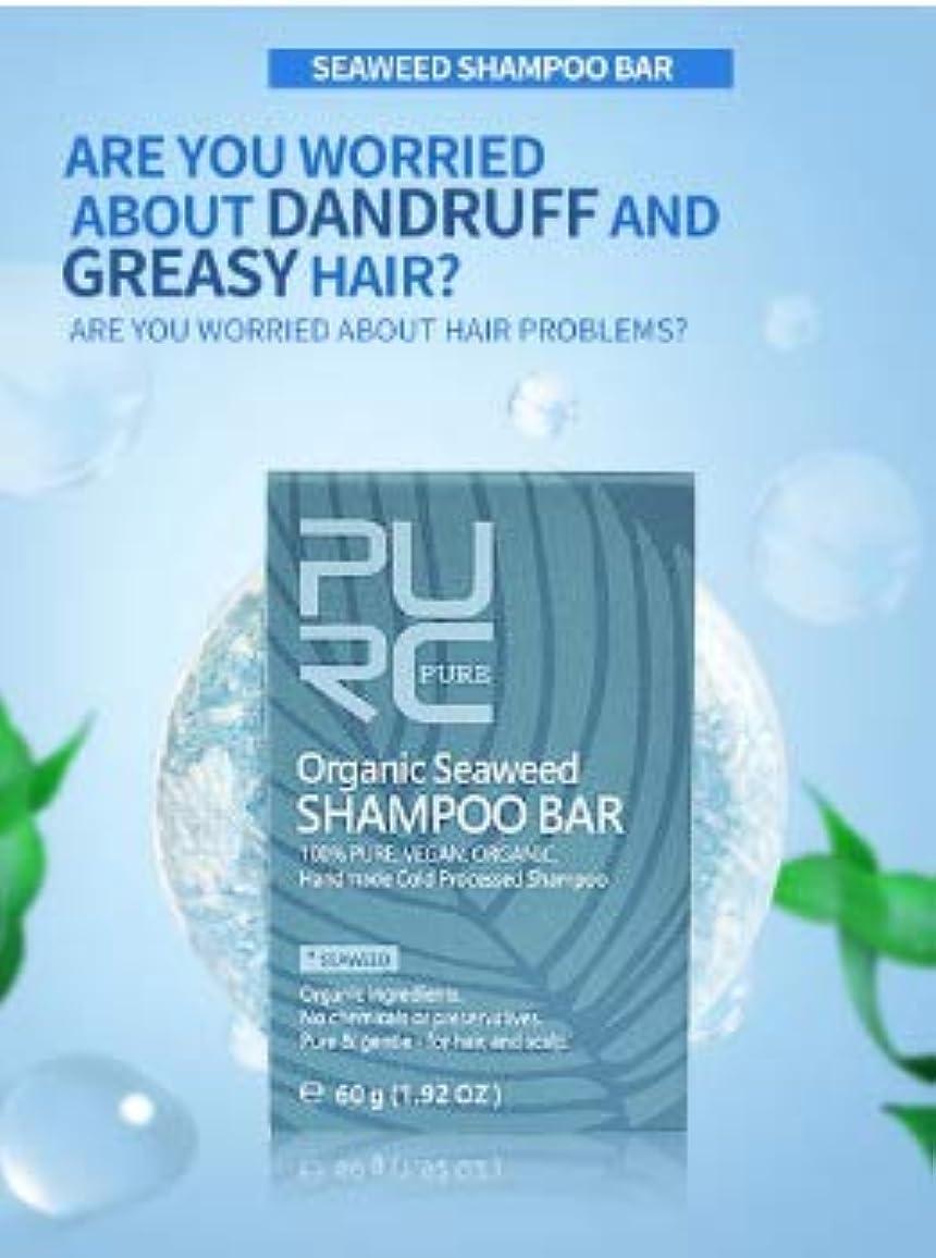 羨望完全に乾く暫定3個 PURC 海藻シャンプー海藻手作りコールド加工無化学物質天然髪シャンプー