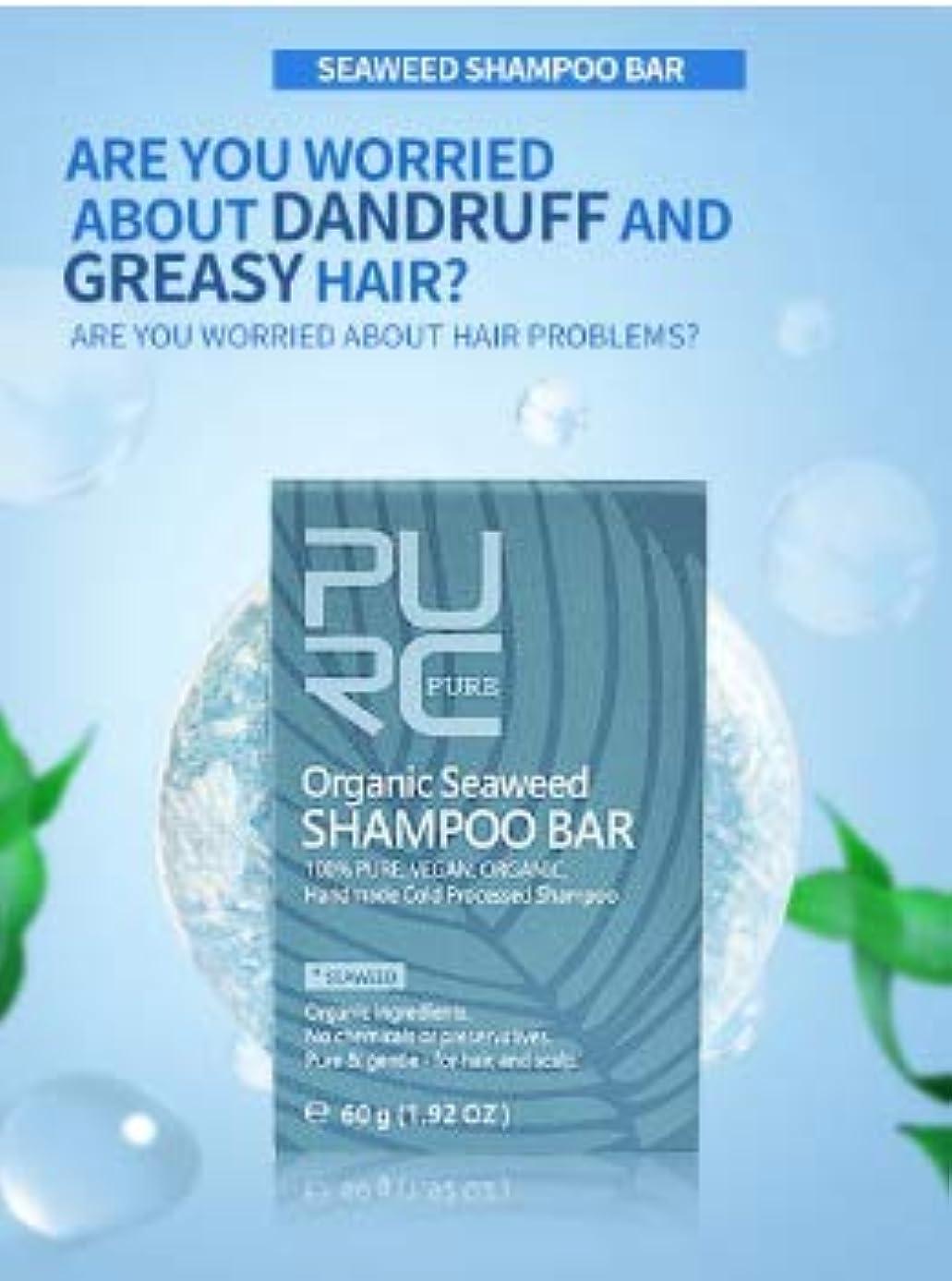 簡略化する極めて重要な実行3個 PURC 海藻シャンプー海藻手作りコールド加工無化学物質天然髪シャンプー