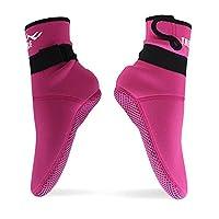 スノーケリング Fin Sock(フィンソックス) rgaダイビングソックス ウェットスーツ Surfing Water Sock(サーフィンソックス) 高級ネオプレン(赤, XS(34-35))