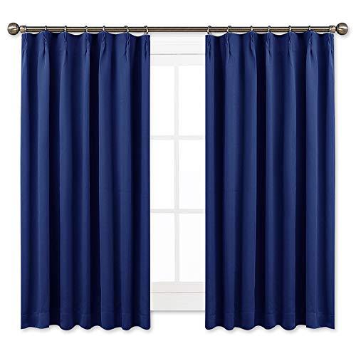NICETOWN 遮光カーテン 2枚セット ローヤルブルー リビングルーム UVカット 2018 プレゼント ドレープ...