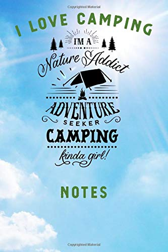 I LOVE CAMPING: Blank Lined Camping Journal, 6