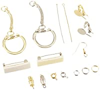 School Specialty Nickel Jewelry Finding With 150 Piece Assortment - Gilt Nickel, Pack 150