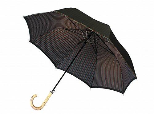 高級甲州織 メンズ 長傘 「Tie」  無地 ? ストライプ GREEN 緑色 江戸時代から140年以上の歴史を持つ甲州織の老舗傘メーカー 槙田商店 紳士用 高級傘
