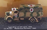 1/72 完成品 ドイツ Opel Blitz 3.6-36 S(Kfz.305)21.Pz.Div. Medenine ダイキャスト 陸軍戦車