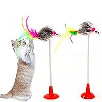 1Pc猫のおもちゃ偽のマウス毛皮のおもちゃペットの猫のおもちゃ面白い小さな猫おもちゃ