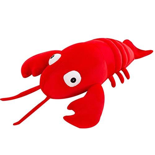 ぬいぐるみ おもちゃザリガニ ザリガニ枕 かわいいぬいぐるみ 海洋動物エビぬいぐるみクッション 大人の子供の休日の贈り物 おかしいおもちゃ (Color : Red, Size : 70cm)