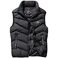 ELEFINE Men's Zip Quilted Padding Puffer Vest