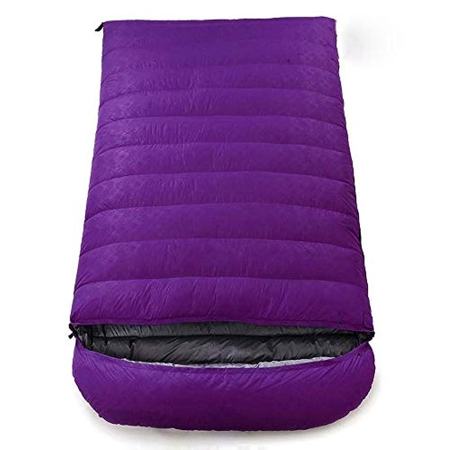 文句を言うボイコットスライス封筒の寝袋 - 屋外のキャンプのための大人の二重寝袋 - 軽量、コンパクト、防水、快適で暖かい寝袋 (Color : Purple, Size : 2.5kg)