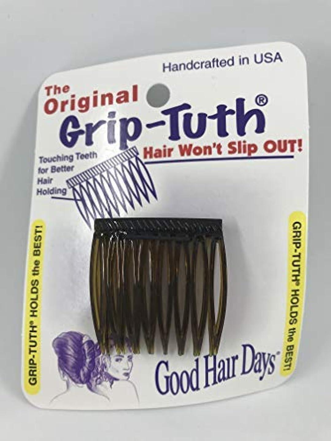瞳筋株式会社Good Hair Days Grip Tuth Hair Combs 40073 Set of 2, Shell 1 1/2