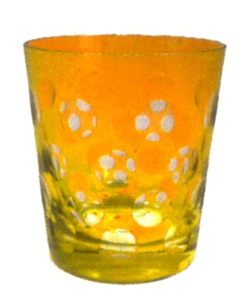 複製するスポンサー信頼性のある丸切子キャンドルホルダー 黄色