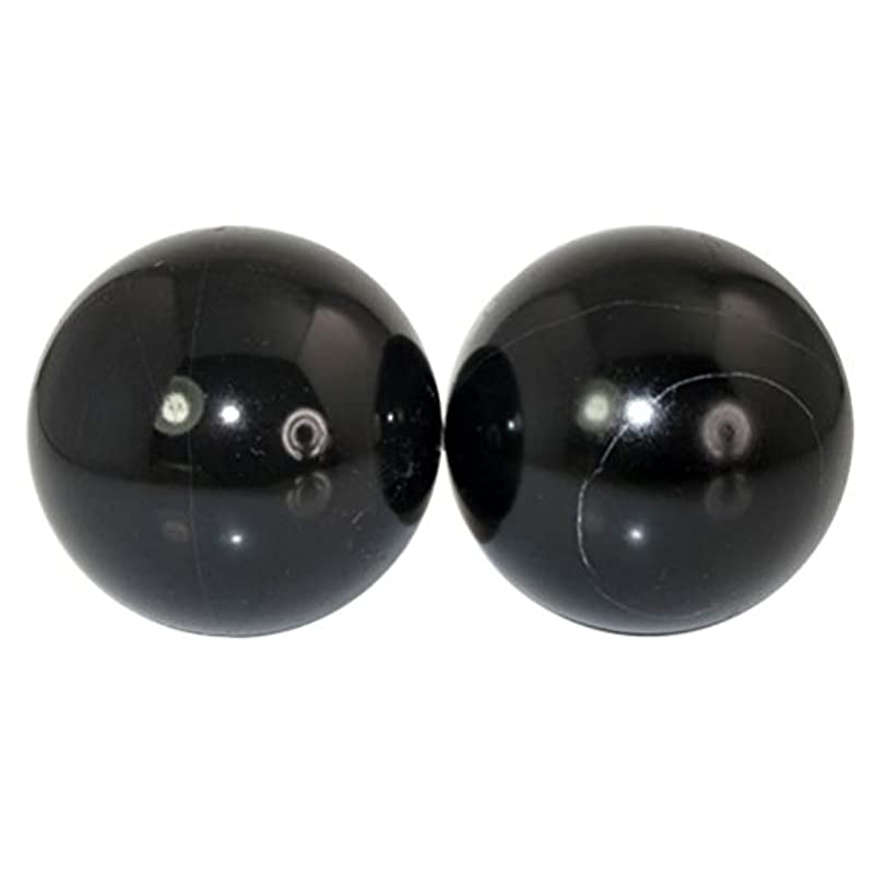 推論キリスト教適応ROSENICE 2個 ハンドエクササイズボール ハンドセラピーストレスレリーフ(黑)
