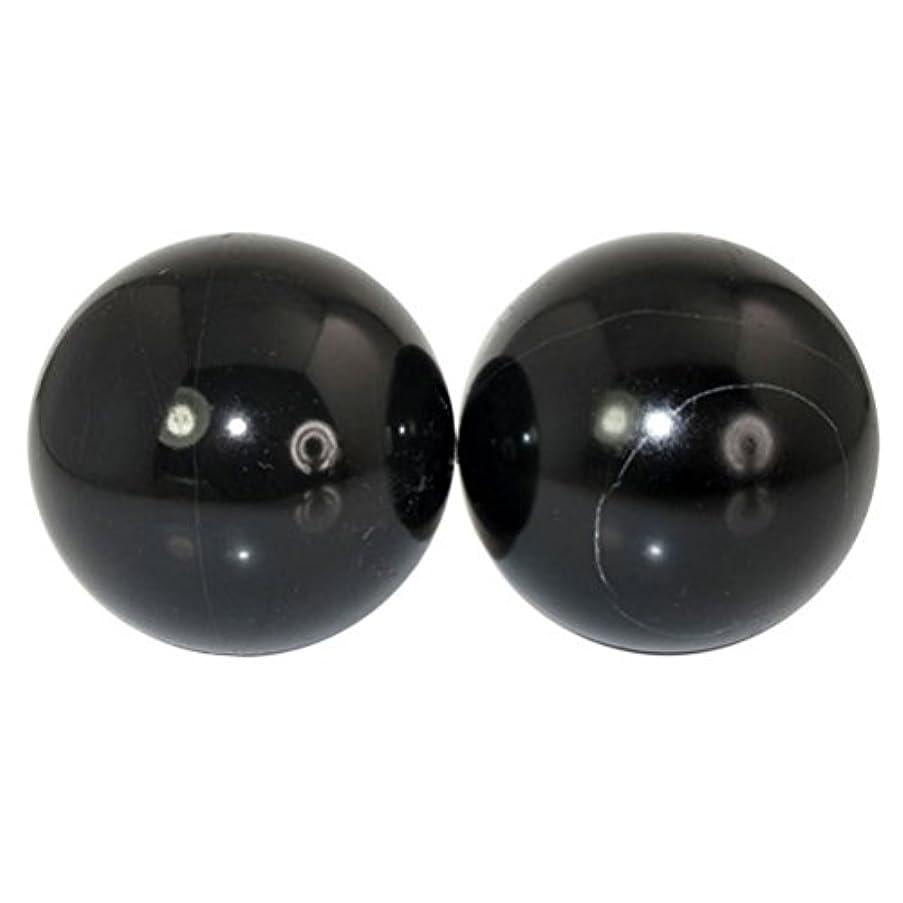 ROSENICE 2個 ハンドエクササイズボール ハンドセラピーストレスレリーフ(黑)