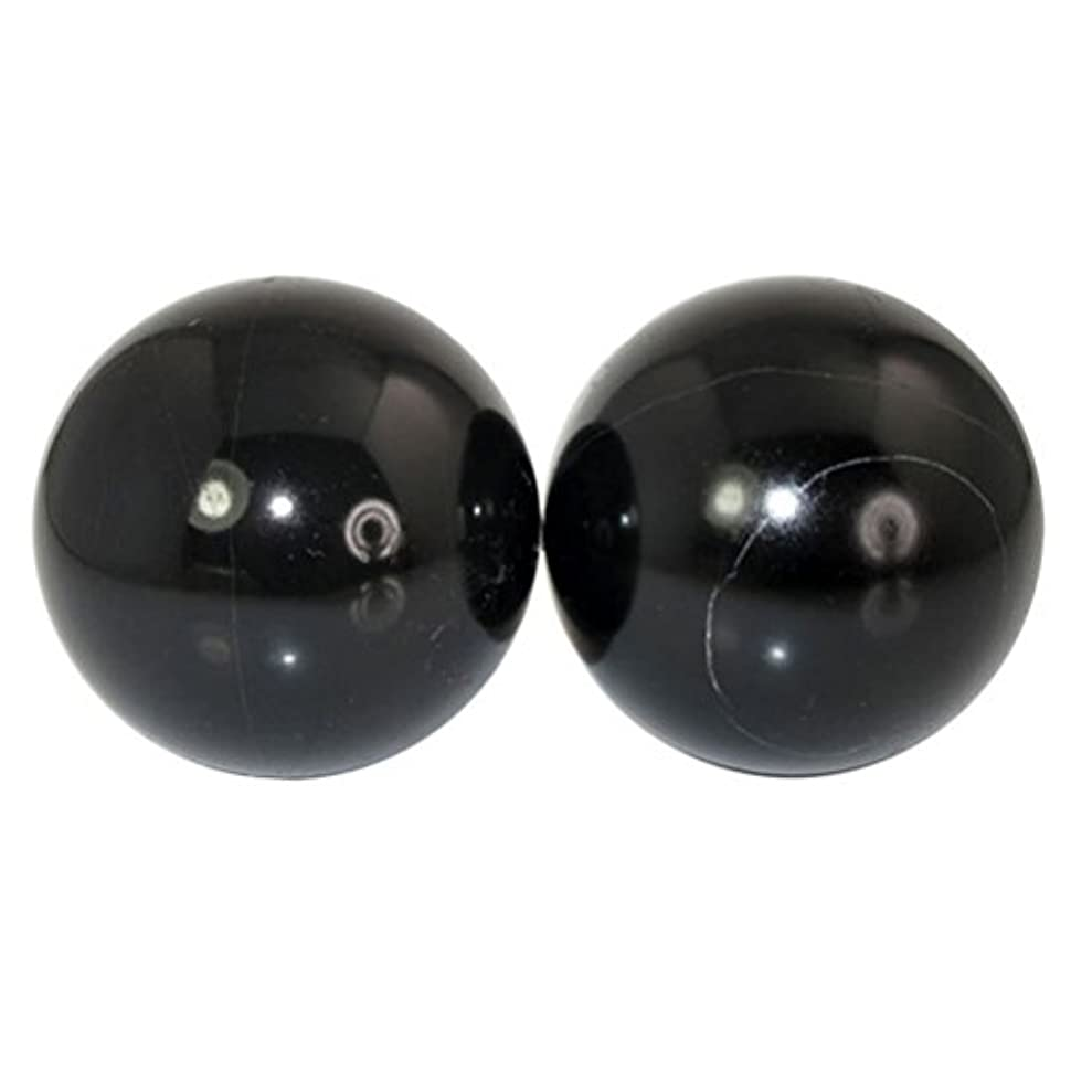 サイクル大胆誓うROSENICE 2個 ハンドエクササイズボール ハンドセラピーストレスレリーフ(黑)