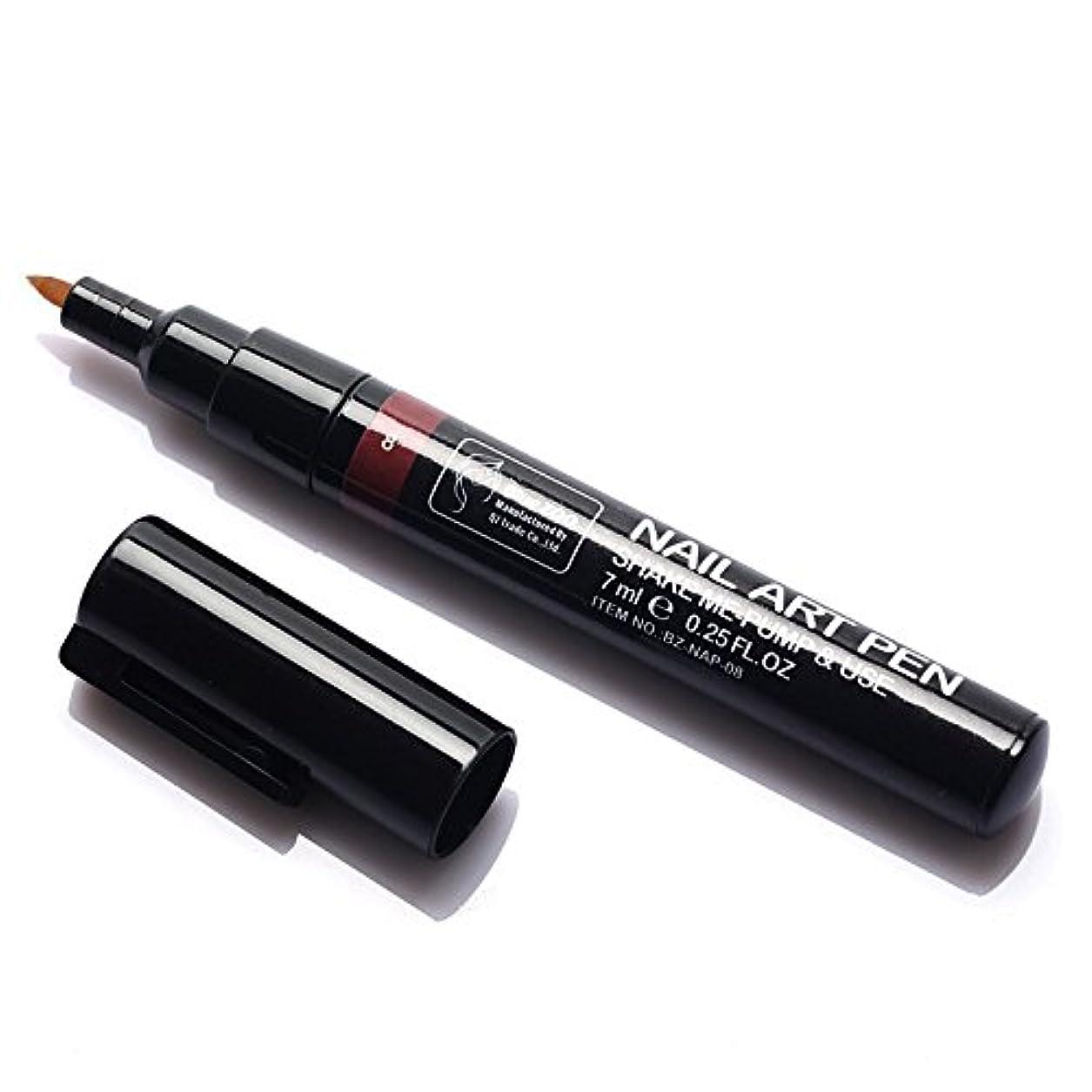 用語集結果信じられない(メイクアップエーシーシー) MakeupAcc カラーネイルアートペン 3Dネイルペン ネイルアートペン ネイルマニキュア液 ペイントペン ペイント 両用 DIY 16色 (コーヒー色) [並行輸入品]