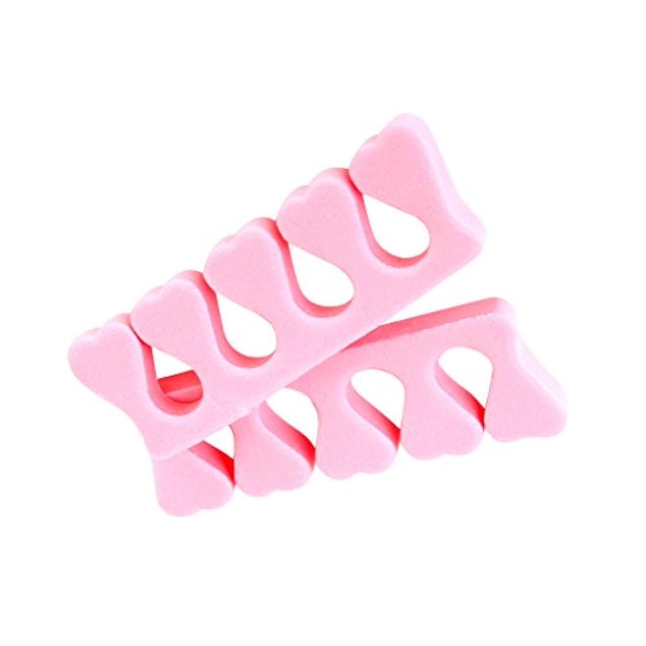 成功したある感心するsharprepublic 2個セット 足指 セパレーター ネイル アート マニキュア ペディキュア フォーム製 ピンク