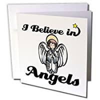 Dooni Designs I Believe In–I Believe In Angels–グリーティングカード Set of 6 Greeting Cards
