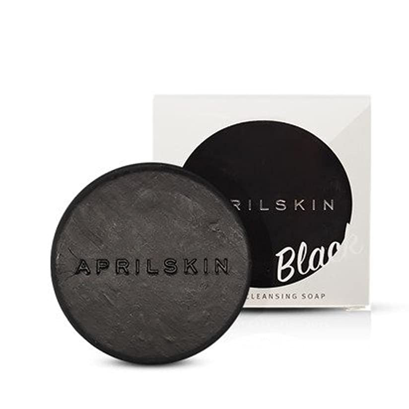 [APRILSKIN] エイプリルスキン国民石鹸 (APRIL SKIN magic stone マジックストーンのリニューアルバージョン新発売) (BLACK) [並行輸入品]