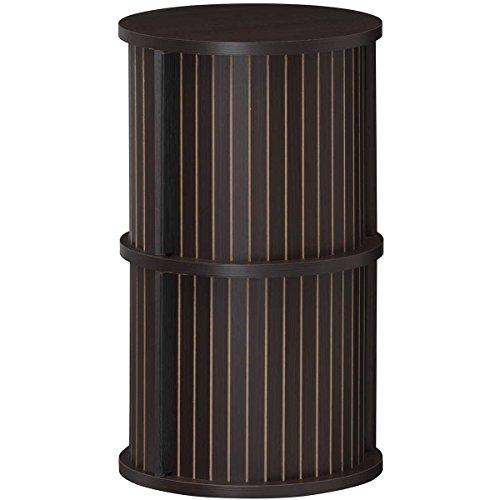 RoomClip商品情報 - 白井産業【SHIRAI】蛇腹扉の円筒型収納 整理棚 ディスプレイラック チャモス ダークブラウン 幅約37cm 高さ約62cm CMO-6035JDK