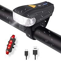 COMI 自転車ヘッドライト IPX6防水/LED/USB充電式/テールライト付き