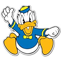 "Disney Donald Duck Vynil車ステッカー4 "" x 4 """