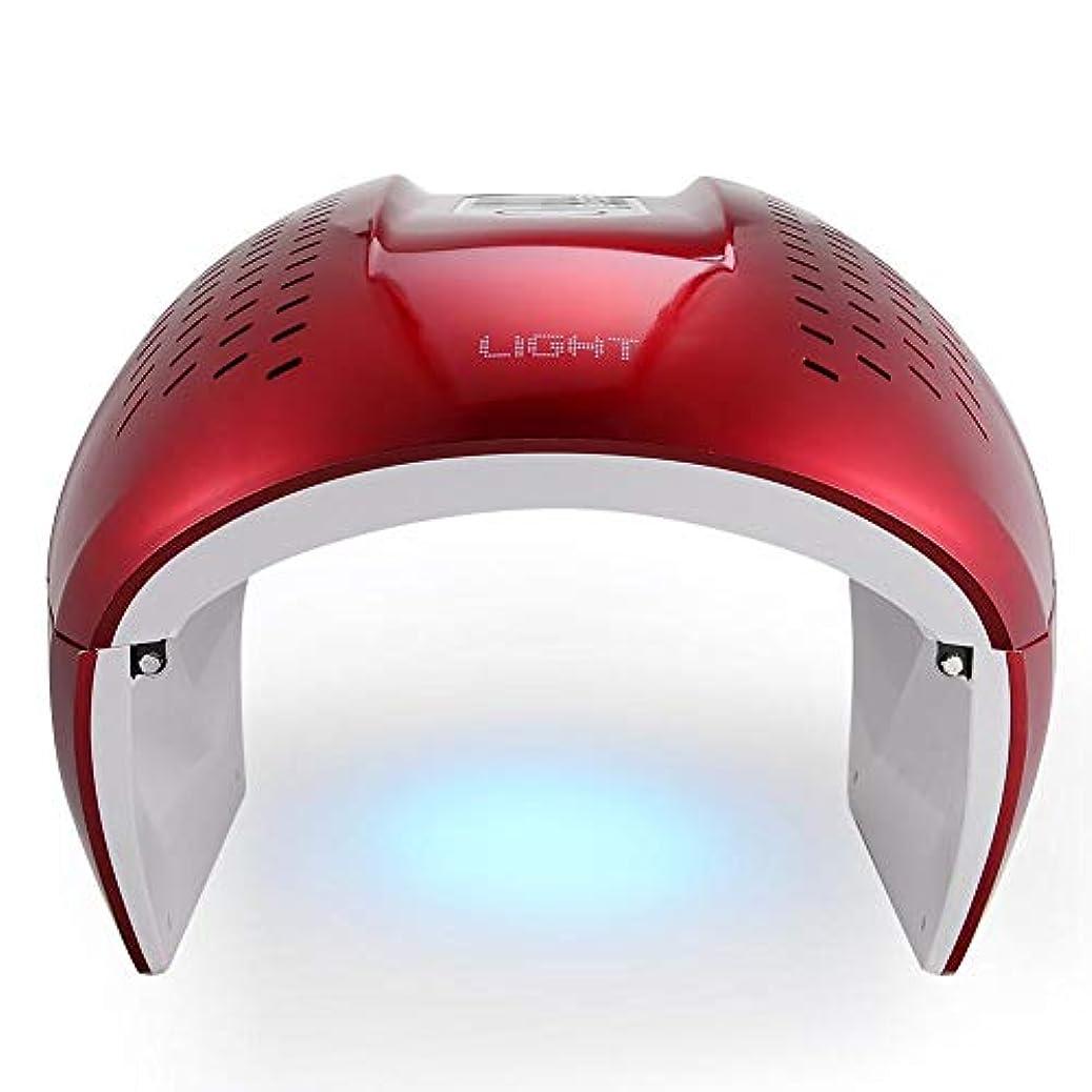 ポルティコバッチ印をつける7色のLEDライトポータブルフォトンにきび治療しわ除去アンチエイジング肌の若返りフェイシャルケア美容機ホームサロンの使用は、マスク