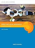 Effective Legal Research (Legal Skills Series)
