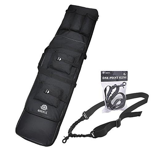 [リベルタ]LIBERTA コンテナライフルケース ダブルガンケース 120cm 2サイズ スリング セット サバゲー 装備 アイテム 大型 ミリタリー ナイロン エアーソフト 収納袋 2WAYタイプ ブラック